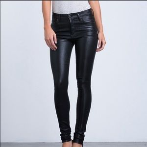 Citizens of humanity rocket black coated jeans 31